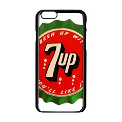 Fresh Up With  7 Up Bottle Cap Tin Metal Apple Iphone 6/6s Black Enamel Case by Celenk
