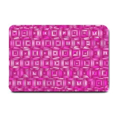 Classic Blocks,pink Small Doormat  by MoreColorsinLife