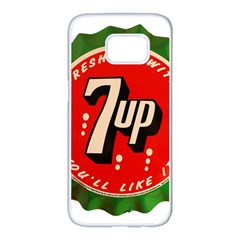 Fresh Up With  7 Up Bottle Cap Tin Metal Samsung Galaxy S7 Edge White Seamless Case