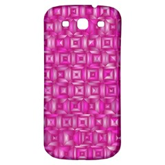 Classic Blocks,pink Samsung Galaxy S3 S Iii Classic Hardshell Back Case by MoreColorsinLife