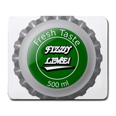 Fresh Taste Fizzy Lime Bottle Cap Large Mousepads
