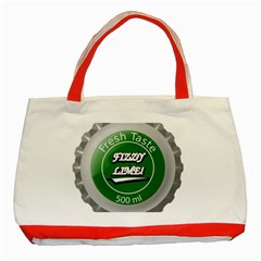 Fresh Taste Fizzy Lime Bottle Cap Classic Tote Bag (red)