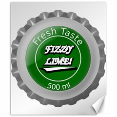 Fresh Taste Fizzy Lime Bottle Cap Canvas 20  X 24   by Celenk