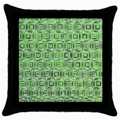 Classic Blocks,green Throw Pillow Case (black) by MoreColorsinLife