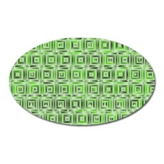 Classic Blocks,green Oval Magnet by MoreColorsinLife