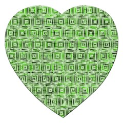 Classic Blocks,green Jigsaw Puzzle (heart) by MoreColorsinLife