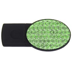 Classic Blocks,green Usb Flash Drive Oval (4 Gb) by MoreColorsinLife