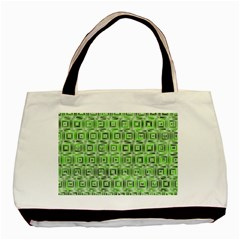 Classic Blocks,green Basic Tote Bag by MoreColorsinLife