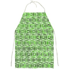 Classic Blocks,green Full Print Aprons by MoreColorsinLife