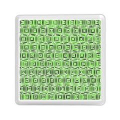 Classic Blocks,green Memory Card Reader (square)  by MoreColorsinLife