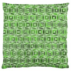 Classic Blocks,green Large Cushion Case (two Sides) by MoreColorsinLife