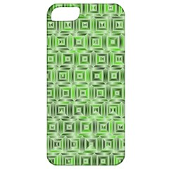 Classic Blocks,green Apple Iphone 5 Classic Hardshell Case by MoreColorsinLife