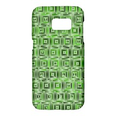 Classic Blocks,green Samsung Galaxy S7 Hardshell Case  by MoreColorsinLife