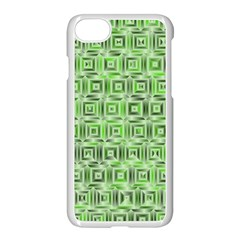 Classic Blocks,green Apple Iphone 8 Seamless Case (white) by MoreColorsinLife