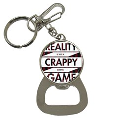 Reality Is Just A Crappy  Boring Game Button Necklaces