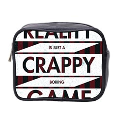 Reality Is Just A Crappy  Boring Game Mini Toiletries Bag 2 Side