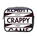 Reality Is Just A Crappy  Boring Game Mini Toiletries Bag 2-Side Front