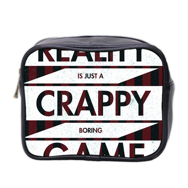 Reality Is Just A Crappy  Boring Game Mini Toiletries Bag 2-Side