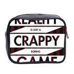 Reality Is Just A Crappy  Boring Game Mini Toiletries Bag 2-Side Back