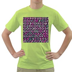 Classic Blocks,pink Combo Green T Shirt by MoreColorsinLife