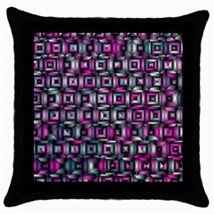 Classic Blocks,pink Combo Throw Pillow Case (black) by MoreColorsinLife