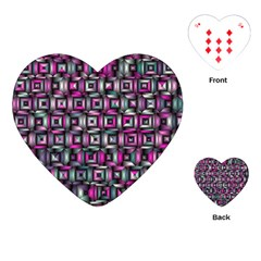 Classic Blocks,pink Combo Playing Cards (heart)  by MoreColorsinLife