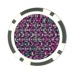 Classic Blocks,pink Combo Poker Chip Card Guard (10 Pack) by MoreColorsinLife
