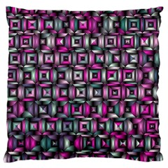 Classic Blocks,pink Combo Large Cushion Case (one Side) by MoreColorsinLife