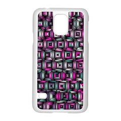Classic Blocks,pink Combo Samsung Galaxy S5 Case (white) by MoreColorsinLife