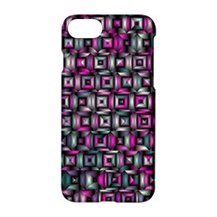 Classic Blocks,pink Combo Apple Iphone 7 Hardshell Case by MoreColorsinLife