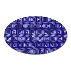Classic Blocks,blue Oval Magnet by MoreColorsinLife