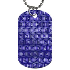 Classic Blocks,blue Dog Tag (one Side) by MoreColorsinLife