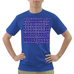 Classic Blocks,blue Dark T Shirt by MoreColorsinLife
