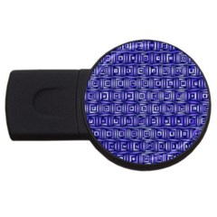 Classic Blocks,blue Usb Flash Drive Round (4 Gb) by MoreColorsinLife
