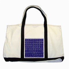 Classic Blocks,blue Two Tone Tote Bag by MoreColorsinLife