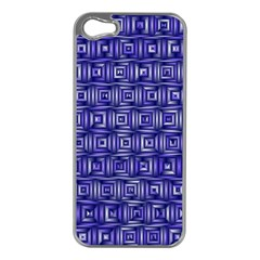 Classic Blocks,blue Apple Iphone 5 Case (silver) by MoreColorsinLife