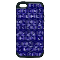 Classic Blocks,blue Apple Iphone 5 Hardshell Case (pc+silicone) by MoreColorsinLife