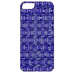 Classic Blocks,blue Apple Iphone 5 Classic Hardshell Case by MoreColorsinLife