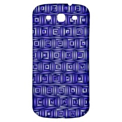 Classic Blocks,blue Samsung Galaxy S3 S Iii Classic Hardshell Back Case by MoreColorsinLife