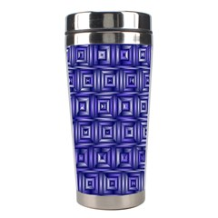 Classic Blocks,blue Stainless Steel Travel Tumblers by MoreColorsinLife