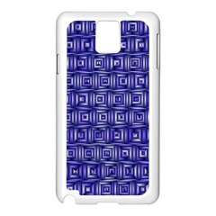 Classic Blocks,blue Samsung Galaxy Note 3 N9005 Case (white) by MoreColorsinLife
