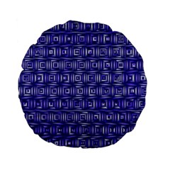 Classic Blocks,blue Standard 15  Premium Flano Round Cushions by MoreColorsinLife