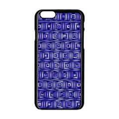 Classic Blocks,blue Apple Iphone 6/6s Black Enamel Case by MoreColorsinLife