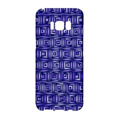 Classic Blocks,blue Samsung Galaxy S8 Hardshell Case  by MoreColorsinLife