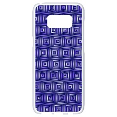 Classic Blocks,blue Samsung Galaxy S8 White Seamless Case by MoreColorsinLife
