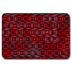 Classic Blocks,red Large Doormat  by MoreColorsinLife