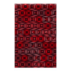 Classic Blocks,red Shower Curtain 48  X 72  (small)  by MoreColorsinLife