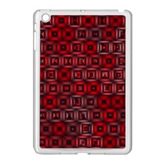 Classic Blocks,red Apple Ipad Mini Case (white) by MoreColorsinLife