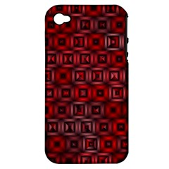 Classic Blocks,red Apple Iphone 4/4s Hardshell Case (pc+silicone) by MoreColorsinLife