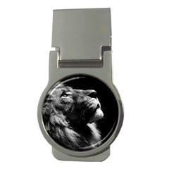 Male Lion Face Money Clips (round)  by Celenk